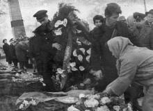 Возложение венков на могилы защитников города. Одесса. 10.04.68. Павленко. (4303)