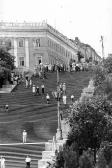 Потемкинская лестница. Одесса. 11 июня 1960 г. (4520)