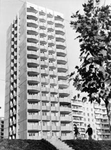 Новый высотный дом на улице Фрунзе. Одесса. 1978 г. И. Павленко (13248)