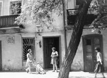 Дом №8 в Красном переулке, где помещалось общество «Фелики Этерия». Одесса. 1980. И. Павленко (13215)