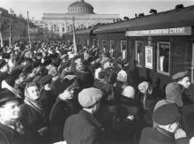 Проводы целинников. Одесса. Левит. 1954 г. (189)