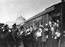 Проводы целинников. Одесса. Левит. 1954 г. (192)