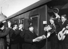 Проводы на целину. Одесса. Левит. 1954 г. (195)
