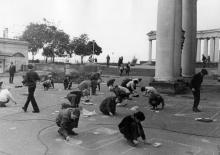 Городской конкурс рисунка на асфальте. Одесса. 1973 г. (4852)