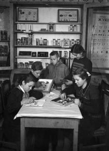 Юннаты изготавливают коллекции ракообразных. Одесская станция юных натуралистов. Одесса. (61)