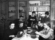 Юннаты за обработкой костного материала. Одесская ст. юных натуралистов. Одесса (62)