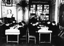 Одесская станция юных натуралистов. Ведет руководитель Миснейлети В.А. Одесса. 1955 г. Мисонженик (2228)