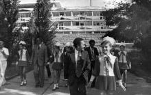 Делегация Национального народного собрания Республики Острова Зеленого Мыса в «Молодой Гвардии». Одесса. 1 августа 1982 г.