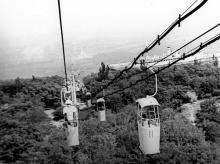 Подвесная канатная дорога на пляж«Отрада». Одесса. 1978 г. (5089)