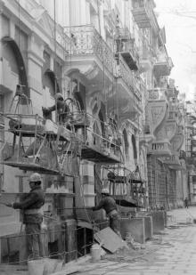 Обновление фасада гостиницы «Красная». Одесса. 1985 г. (8626)