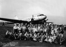 В Одесском аэропорту. 1959 г.