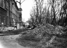 Достройка 4 этажа старого корпуса ОИИМФа. Одесса. 1954-1955 г.г.
