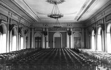 Актовый зал ОИИМФа. 1953 г.