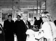 Посещение Л.М. Кравчуком з-да «Стройгидравлика». г. Одесса 1991 г. В. Теняков (12285)