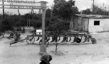 Продукция завода на областной сельхоз. выставке. ЗОР. Одесса, 1951 г., Феохари (1734)
