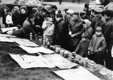 Выставка цветов и рисунков в парке им. Шевченко. Одесская обл. 1987 г. В. Курицын (10224)
