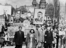 Первомайская демонстрация. 1.V.53 г. Одесса, Левит (345)