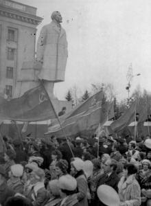 Демонстрация на площади им. Октябрьской революции. Одесса 07.11.1976 г. Решетняк (4477)
