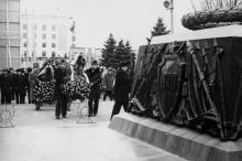 Демонстрация трудящихся г. Одессы в честь 60-летия Великой Октябрьской социалистической революции. г. Одесса. 1977. (4763)
