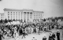 Демонстрация в Одессе 1 мая 1981 г. г. Одесса, 1 мая 1981 г. (7243)