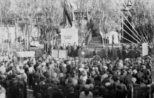 Митинг, посвященный награждению ЗОР памятным знаменем ЦК КПСС и Совета Министров СССР. Одесса, 1967 г. Токарев (1814)