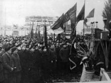 Митинг избирателей  Водно-транспортного избират. округа №534, посвященный согласию И.В. Сталина баллотироваться в депутаты Одес. Горсовета. г. Одесса,29/1-1953 (3163)