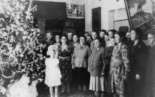 Елка в общежитии ЗОР. Одесса. 1955 г. Феохари (1772)