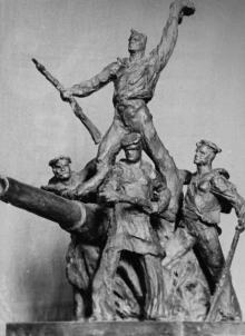 Проект памятника потемкинцам, представленный на общественный просмотр в Одессу из Москвы. 11.II.56 г. Одесса, Левит (900)