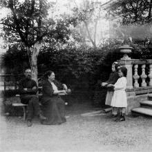 В особняке И.Б. Галюзмана на ул.  Полтавской победы (Канатной), 112. Сентябрь, 1912 г.