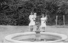 В саду возле особняке И.Б. Галюзмана на ул. Полтавской победы (Канатной), 112. Потом эта территория отойдет под Мукомольный институт