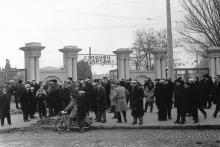 Стадион «Спартак», ул. Свердлова. Одесса. Фотограф Валерий Холявко. 1964 г.