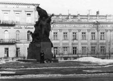 Памятник матросам-потемкинцам. Одесса. Фотограф Валерий Холявко. 1965 г.