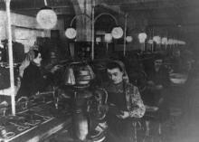 Конвейер на Одесской 2-ой гособувной фабрике