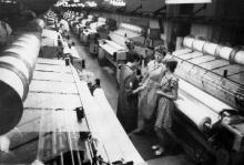 В вязальном цехе трикотажного объединения им. Н.К. Крупской. Одесса, август, 1986 г.  (9120)