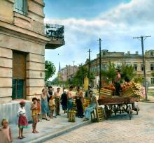 Вид на ул. Льва Толстого с площади Льва Толстого. Фотограф Branson DeCou, 1931 г.