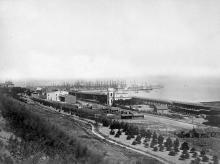 Вид с бульвара на порт. Одесса. Фотограф Рауль Фот. 1878 г.