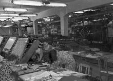 Старый цех подготовки швейного объединения им. В.В. Воровского. г. Одесса, 1972 г. (5513)