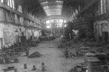 Формовочный зал литейного цеха ЗОР. Одесса, 1946 г. Феохари (1707)