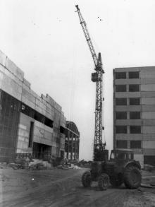 Строительство блоков сборочного цеха ЗОРа. Одесса, апрель 1984 г. (8095)