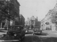 Вид на театр оперы и балета. Одесса. 1947 г. Халит. (868)