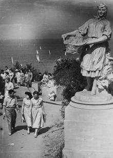 Парк культуры и отдыха им. Шевченко. Одесса. Максимов. 1959 г. (361)