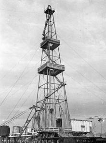 Нефтяные вышки в Арцизском районе. Одесская обл. 1977 г. (5935)