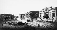 Итальянская улица, Одесса. Гравюра