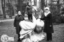 На территории Лермонтовского санатория. Одесса. 22 января 1974 г.