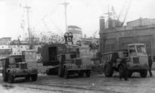 Строительство трубопроводного цеха Судоремонтного завода. Одесса 1962 г. Выкрест (1688)