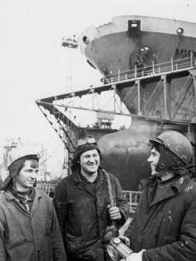 Бригада В. Васильева судоремонтного завода. г. Одесса, ноябрь 1979 г. (6080)