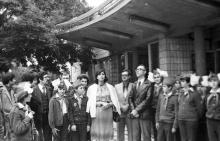 Сирийская делегация во время посещения республиканского пионерского лагеря ЦК ЛКСМУ «Молодая гвардия». г. Одесса 1981 г. И. Павленко (13188)