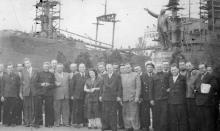 Немецкая делегация из Германской Демократической Республики из г. Росток на Судоремонтном заводе. Одесса 1955 г. Выкрест (1651)