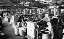 Цех джутовой фабрики. г. Одесса, 1978 г. (5465)