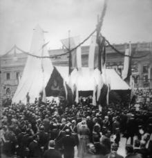 Перед открытием памятника Екатерине II. Одесса, 6 мая 1900 г.